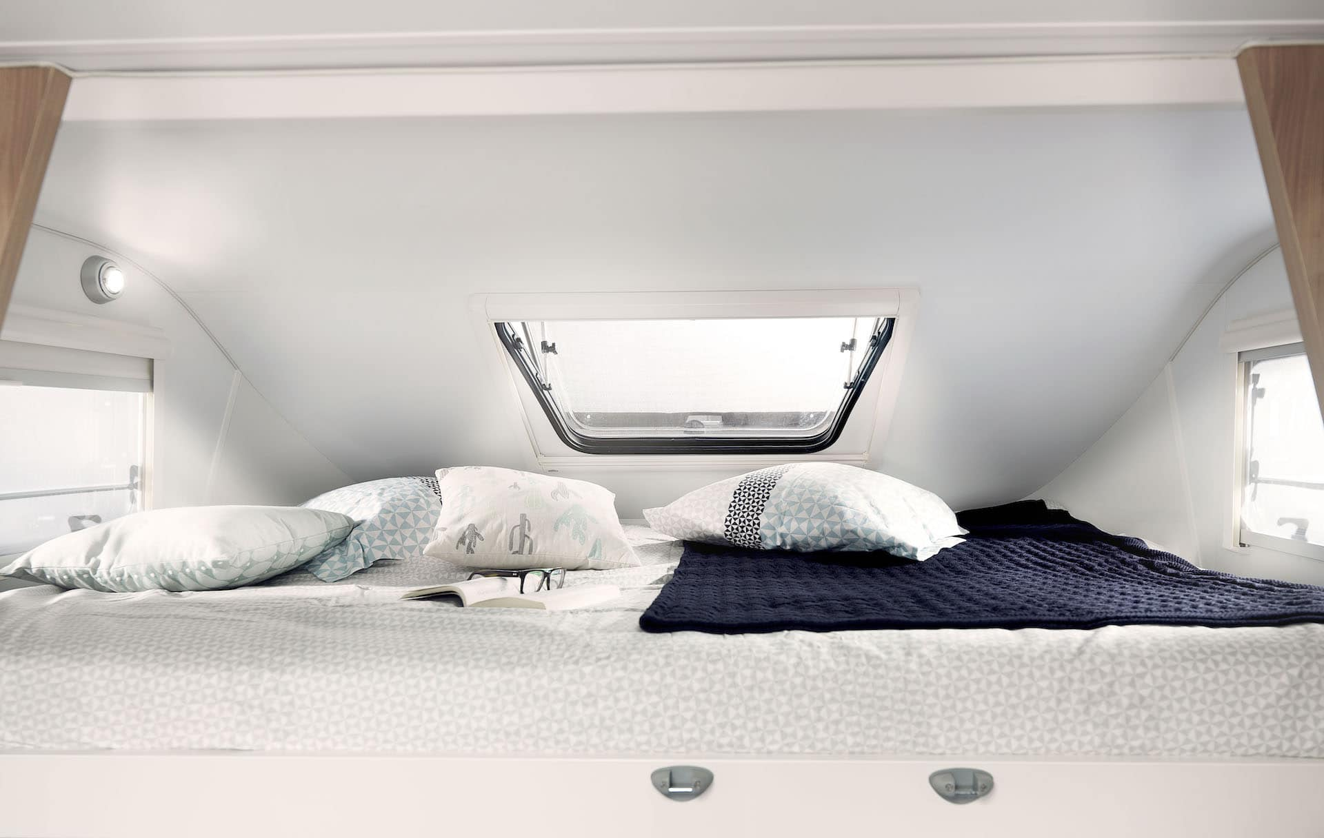 Bettbereich in Reisemobil