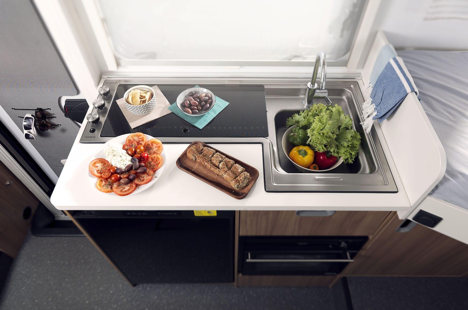 Küche in Wohnmobil