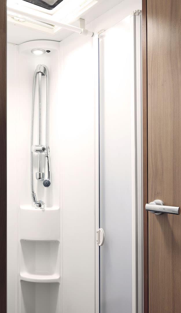 Dusche in einem Wohnmobil
